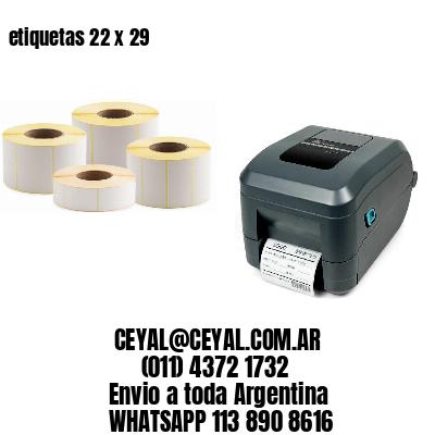 etiquetas 22 x 29