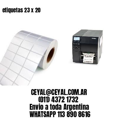 etiquetas 23 x 20