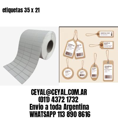 etiquetas 35 x 21