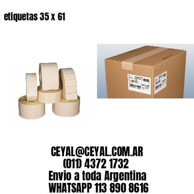 etiquetas 35 x 61