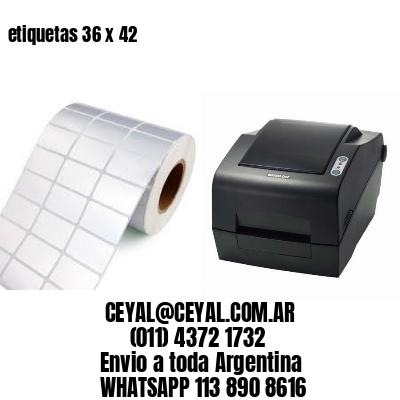 etiquetas 36 x 42