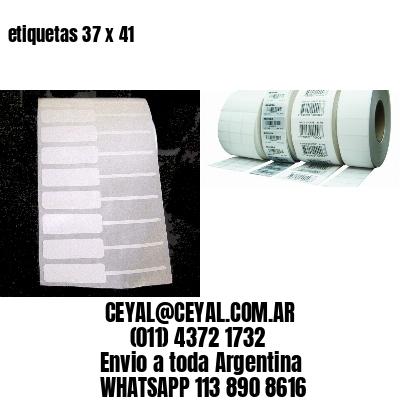 etiquetas 37 x 41