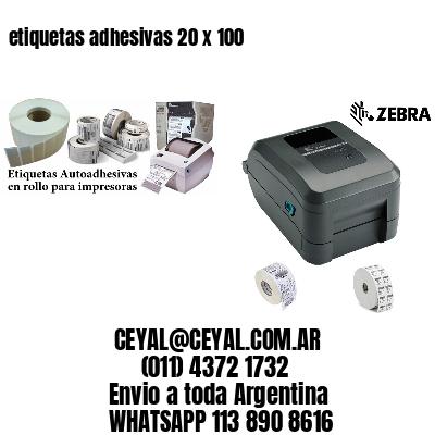 etiquetas adhesivas 20 x 100