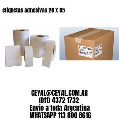etiquetas adhesivas 20 x 85