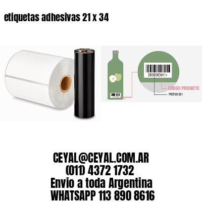 etiquetas adhesivas 21 x 34