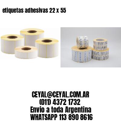 etiquetas adhesivas 22 x 55