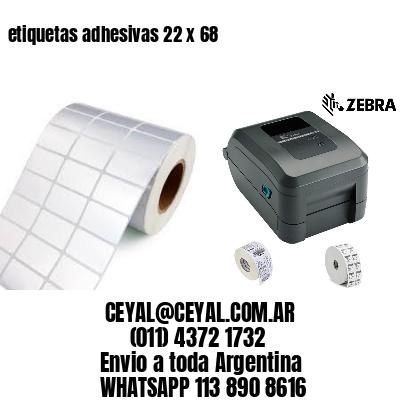 etiquetas adhesivas 22 x 68