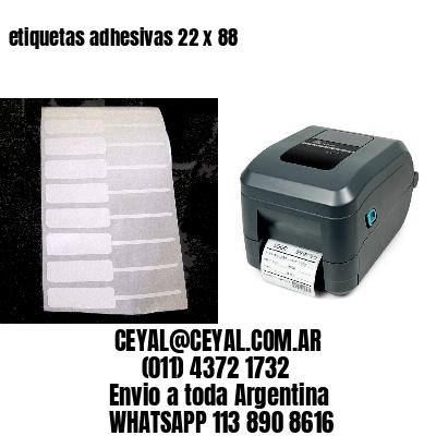 etiquetas adhesivas 22 x 88