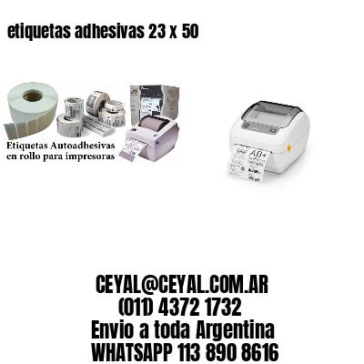 etiquetas adhesivas 23 x 50