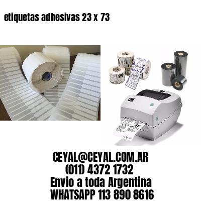 etiquetas adhesivas 23 x 73