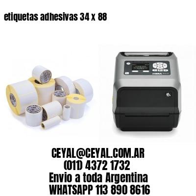 etiquetas adhesivas 34 x 88