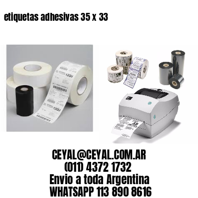 etiquetas adhesivas 35 x 33