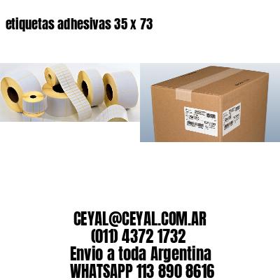 etiquetas adhesivas 35 x 73