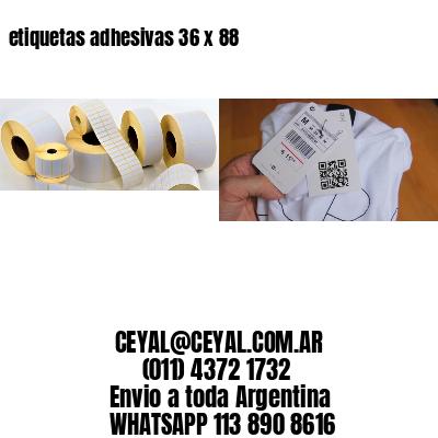 etiquetas adhesivas 36 x 88