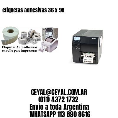 etiquetas adhesivas 36 x 98