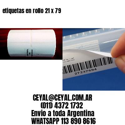 etiquetas en rollo 21 x 79