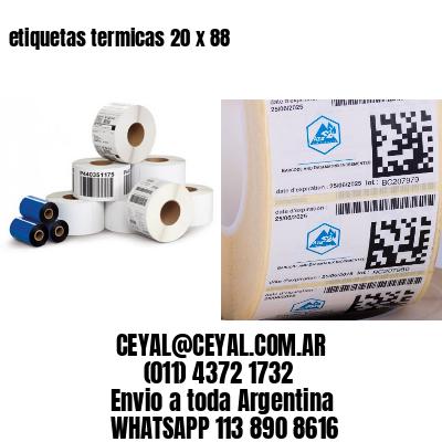 etiquetas termicas 20 x 88