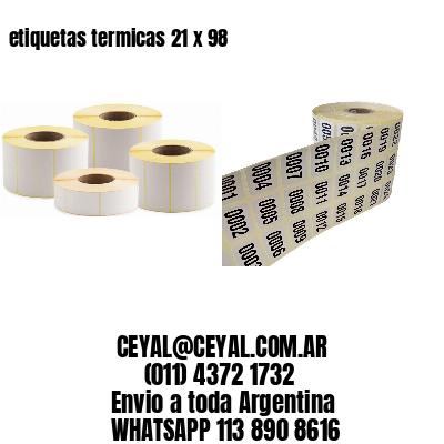 etiquetas termicas 21 x 98